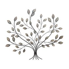 Adorned Leaf Tree Wall Art