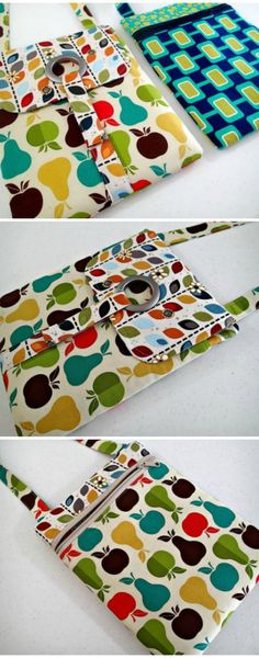 The perfect tablet bag/case sewing pattern? Not only does it come with a step by step video for how to make it, but the zipper technique will blow your mind and the construction just seems too easy to work - until you realize it already has! Fabric Crafts, Sewing Crafts, Sewing Projects, Bag Patterns To Sew, Sewing Patterns, Sacs Tote Bags, Diy Sac, Fabric Bags, Sew Bags