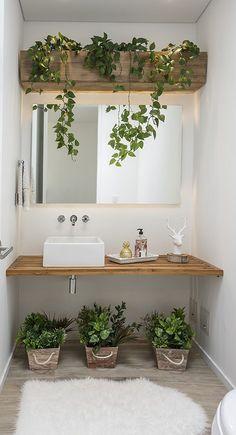 Zoom on kitchen trends 2018 - My Romodel House Plants Decor, Plant Decor, Bathroom Design Small, Bathroom Interior Design, Salon Interior Design, Bathroom Plants, Sweet Home, Bedroom Decor, House Design