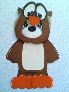 Owl Costume Tear bear paper piecing for scrapbooking by my tear bears KIRA