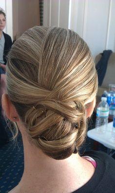 bridesmaid hair. elegant
