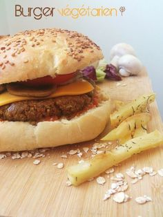 Burger végétarien (steak de tofu maison)