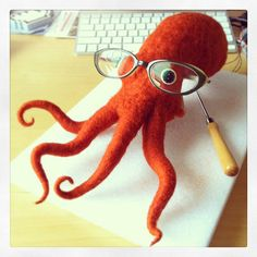 Four Legged Geeky Octopus So Far (WIP) | Flickr - Photo Sharing!   I need this for my writing desk!
