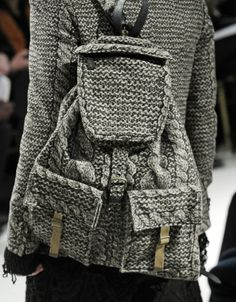 Knitted bags - maybe I can make stuff like this someday.
