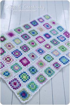 Granny blanket at http://craftandcreativity.com/blog