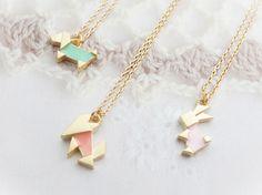 origami necklaces