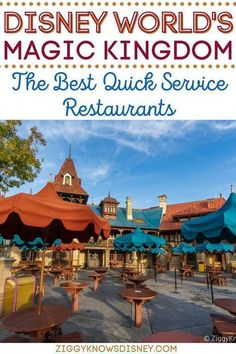 While you are on your Disney World vacation, you may not want to sit down at a fancy restaurant. That's why Ziggy Knows Disney made this list of the best quick-service restaurants around Disney's Magic Kingdom! Save this list for your next family vacation to the most magical place on earth. Disney World Secrets, Disney World Parks, Disney World Tips And Tricks, Disney World Vacation, Magic Kingdom Quick Service, Magic Kingdom Tips, Disney World Magic Kingdom, Disney Website, Restaurants
