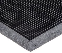 "Durable Corporation 396S2432BK Heavy Duty Rubber Fingertip Entrance Mat, for Outdoor Areas, 24"" Width x 32"" Length x 5/8"" Thickness, Black.   For product info please visit:  https://homeandgarden.today/durable-corporation-396s2432bk-heavy-duty-rubber-fingertip-entrance-mat-for-outdoor-areas-24-width-x-32-length-x-5-8-thickness-black/"
