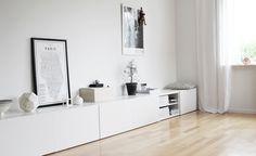 Most beautiful IKEA furniture: Besta Desk In Living Room, Interior Design Living Room, Home And Living, Furniture Deals, Ikea Furniture, Furniture Outlet, Ikea Interior, Loft Design, Home Decor Inspiration