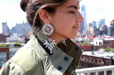 I'm trying this big earring thing. Read all about it!