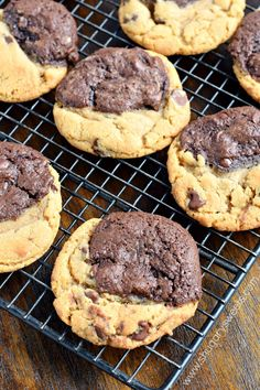 Brookie Cookies (Cross between Chocolate Chip Cookies and Brownies) recipe