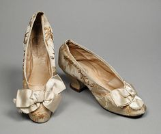 Pair of Woman's Slippers (Wedding) F. P. Haldy (United States, Ohio, Cincinnati, active 19th century) United States, Ohio, 1870
