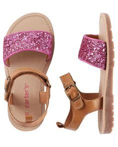 7ac680dd4f586 Kid Girl Carter s Glitter Strap Sandals