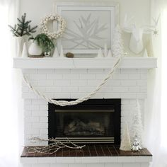 Snowy Holiday Mantle Style by Jenny Batt