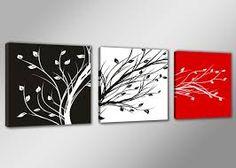 Resultado de imagen para arte abstracto blanco y negro y rojo