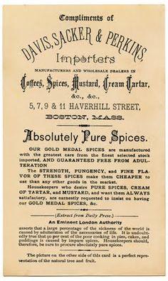 Vintage Graphic – Spice Ad