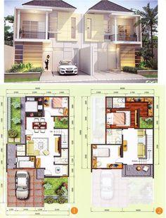 Pin oleh agneta refinda di home morden house, modern house p Home Modern, Modern House Plans, Small House Plans, Modern House Design, Dream Home Design, Home Design Plans, Dream House Plans, House Floor Plans, Morden House