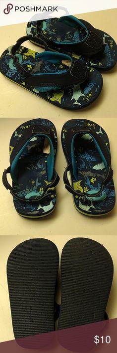 GYMBOREE Pink and Black Design Sandals Flip Flops Shoes Size 9//10 11//12 NEW