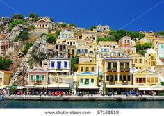 Find Amazing Greece Pictorial Island Symi stock images in HD and millions of other royalty-free stock photos, illustrations and vectors in the Shutterstock collection. Thousands of new, high-quality pictures added every day. Places Around The World, Around The Worlds, Greece Wallpaper, Harbor Town, Island Cruises, Buy Wallpaper Online, Paradise Garden, Destinations, Greek Islands