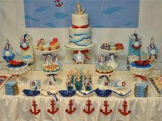 Ahoy Nautical Baby Shower Theme via Baby shower ideas for boy or girl…