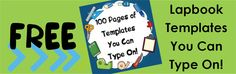 Lapbook Templates You Can Type On! - Free!