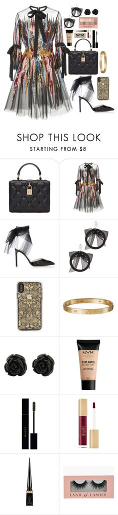 """Untitled #753"" by cupkatyk on Polyvore featuring Dolce&Gabbana, Elie Saab, Fallon, Sonix, Cartier, NYX, Maybelline, Gucci and Christian Louboutin"