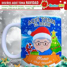DISEÑOS AQUI TOMA LA FAMILIA NAVIDAD Tv Box Android, Logo Nasa, Frosted Flakes, My Love, Tableware, 3d, Xmas, World, Cute Mugs
