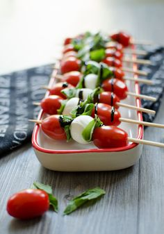 Caprese Salad Skewers with Balsamic Glaze