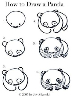 how to draw a panda | Tumblr