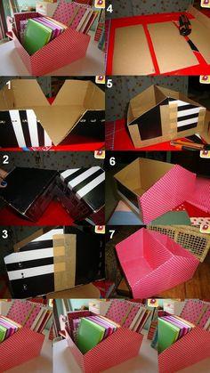 Masz stare pudełko po butach? Zrób z niego organizer!