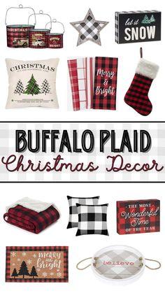 Amazon Christmas Decorations, Amazon Christmas Gifts, Toddler Christmas Gifts, Christmas Centerpieces, Holiday Decorations, Holiday Crafts, Buffalo Check Christmas Decor, Plaid Christmas, Christmas Home
