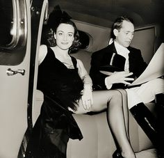 1930s Joan Crawford and Franchot Tone in a car