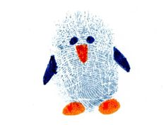 LUV! Kid's fingerprint penguin. Great advent project to keep the kid's busy and personalize our Christmas card envelopes at the same time.
