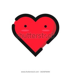 Love Vector Design Outline Cute Heart Stock Vector (Royalty Free) 1625876449 Love Heart Illustration, Vector Design, Icon Design, Outline, How To Draw Hands, Royalty Free Stock Photos, Doodles, Symbols, Abstract