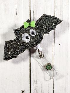 Halloween Bat Name Badge Holder - Cute Badge Reel - Unique Retractable ID Badge…