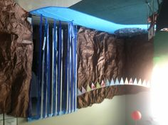 Waterfall and pond decor for Camp Write a Lot