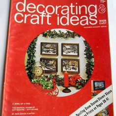 Vintage Christmas 1972 1973 Decorating & Craft Ideas Made Easy #Vintage #Christmas 1972 1973 #Decorating & #CraftIdeas Made #Easy #Magazine #guide #book #AD #collectables #decoupage #purses #wood #finishes #quilting #etsy #studio
