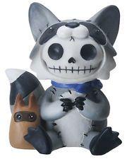 NEW Furrybones Furry Bones Bandit Racoon Baby Skull Skeleton Figurine Gift 8486