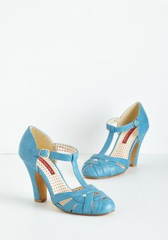 Spring 'Em Out Heel in Sky. The sun is shining, birds are chirping, and youre soaking it all in as you debut these sweet, sky-blue pumps by Bait Footwear! #blue #wedding #modcloth