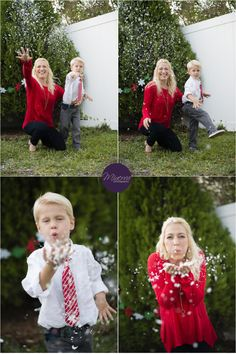 holiday portraits -- fun with fake snow!