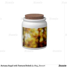 Autumn Angel with Textured Bokeh Candy Jars