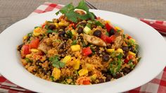 Quinoa Salad with Chicken and Black Beans CBC Best Recipes Ever Main Dish Salads, Dinner Salads, Main Dishes, Side Dishes, Healthy Snacks, Healthy Eating, Healthy Recipes, Healthy Dinners, Healthy Options