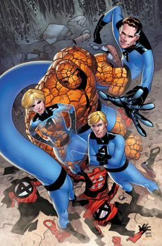 Fantastic Four TPB Marvel NOW) By James Robinson Marvel Comics Modern Age Comic book covers Super Heroes Villians Sue Storm Reed Richards The Thing Human Torch Fantastic Four Marvel Comics Art, Marvel Comic Books, Comic Book Characters, Marvel Characters, Marvel Heroes, Comic Character, Comic Books Art, Comic Art, Marvel Marvel