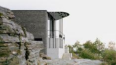 Espen Surnevik - Architect -, Rasmus Norlander · Vacation House in Ryfylke Amazing Architecture, Modern Architecture, Small Terrace, Steel Columns, Steel Canopy, Best Architects, Entrance Design, Concrete Jungle, Dezeen