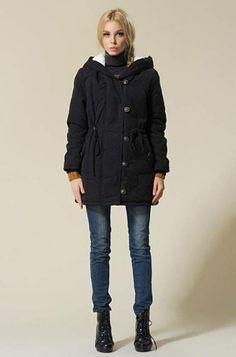 hymyyxgs Women's Winter Warm Coat Plus Size Hoodie Parkas Overcoat Fleece Outwear Jacket with Drawstring Cute Cardigan Outfits, Black Leggings Style, Fall Fashion Trends, Women's Fashion, Warm Coat, Stylish Outfits, Jackets For Women, Leggings Fashion, Stay Warm