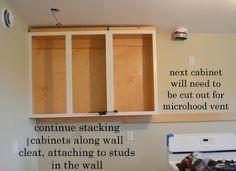 Installing Kitchen Cabinets - Momplex Vanilla Kitchen | Ana White DIY Projects