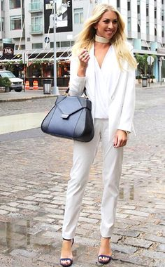 Vanderpump Rules star Stassi Schroeder looks stylish in New York City's Meatpacking District with the Carnelia Tote