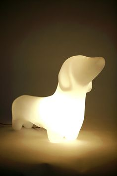 Dachshund Lamp: Life size to light up your life! Choose white or green $78