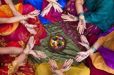 © Katrinaelena  Dreamstime.com - Henna Decorated Hands Arranged In A Circle Photo