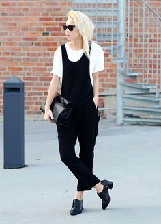 Dungaree-trousers. (by Victoria Törnegren) - http://lookbook.nu/look/4670195-Dungaree-trousers